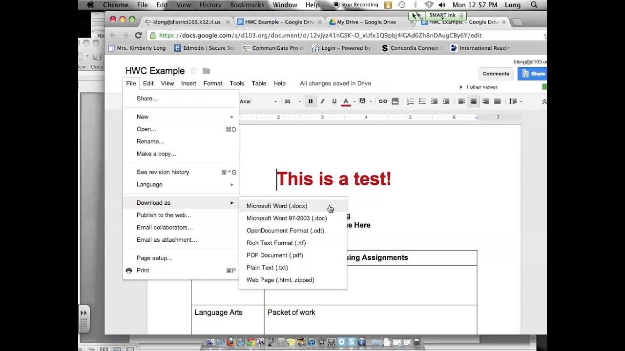 Edit And Save Google Docs YouTube - Google docs save