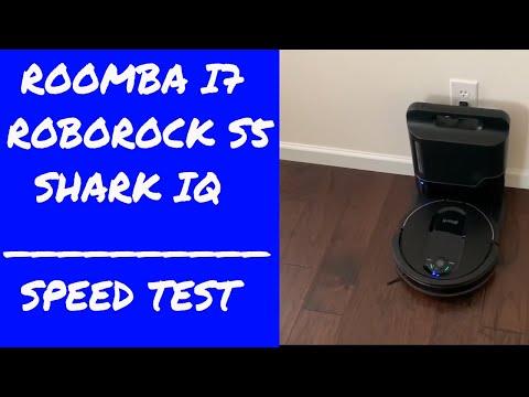 3 Way Speed Test - Shark IQ - iRobot Roomba i7 i7+ - Roborock S5 - Who will finish floor plan first?
