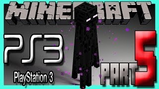 Minecraft Ps3 (Playstation 3) Edition Survival Gameplay - ATTACKING ENDERMAN! Part 5