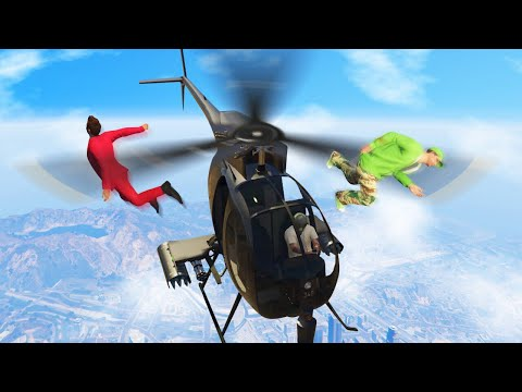 RUN OR GET CHOPPED BY HELICOPTERS! (GTA 5...