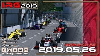 rFactor 2 – IRG Formula 2019 – ROUND 6 Monaco GP - LIVESTREAM