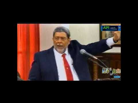 PRIME MINISTER DR. RALPH GONSALVES DEBATES THE MOTION OF NO CONFIDENCE IN HIS GOVERNMENT