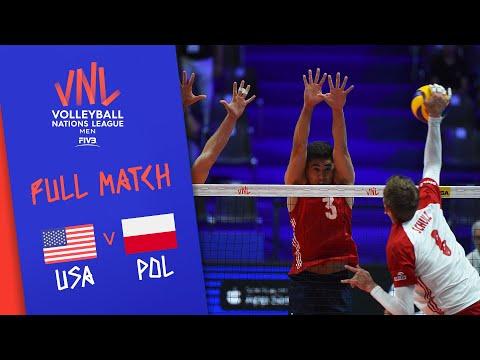 USA V Poland - Full Match - Final Round Pool B | Men's VNL 2018