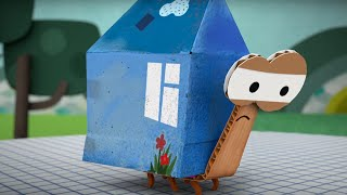 Мультфильм про оригами - Бумажки - Полезное насекомое - Серия 11
