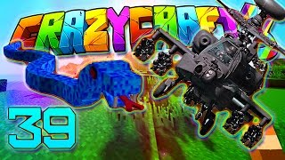 Minecraft Crazy Craft 3.0: STEALTH BOMBER & SEA MONSTER #39 (Modded Roleplay)