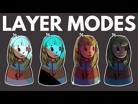 How to Use Layer Modes in Digital Art // Multiply, Overlay, etc.