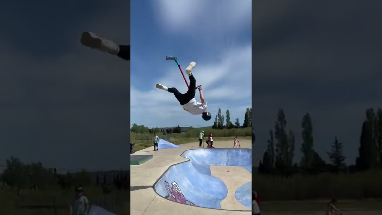 Backflip 7 Whips on a Scooter ! #shorts #viral #trend