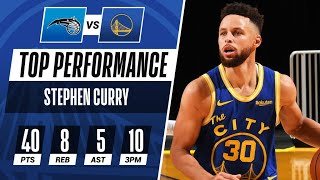 Steph Gets HOT From Downtown, Drops 40 PTS in Dubs Win 😱