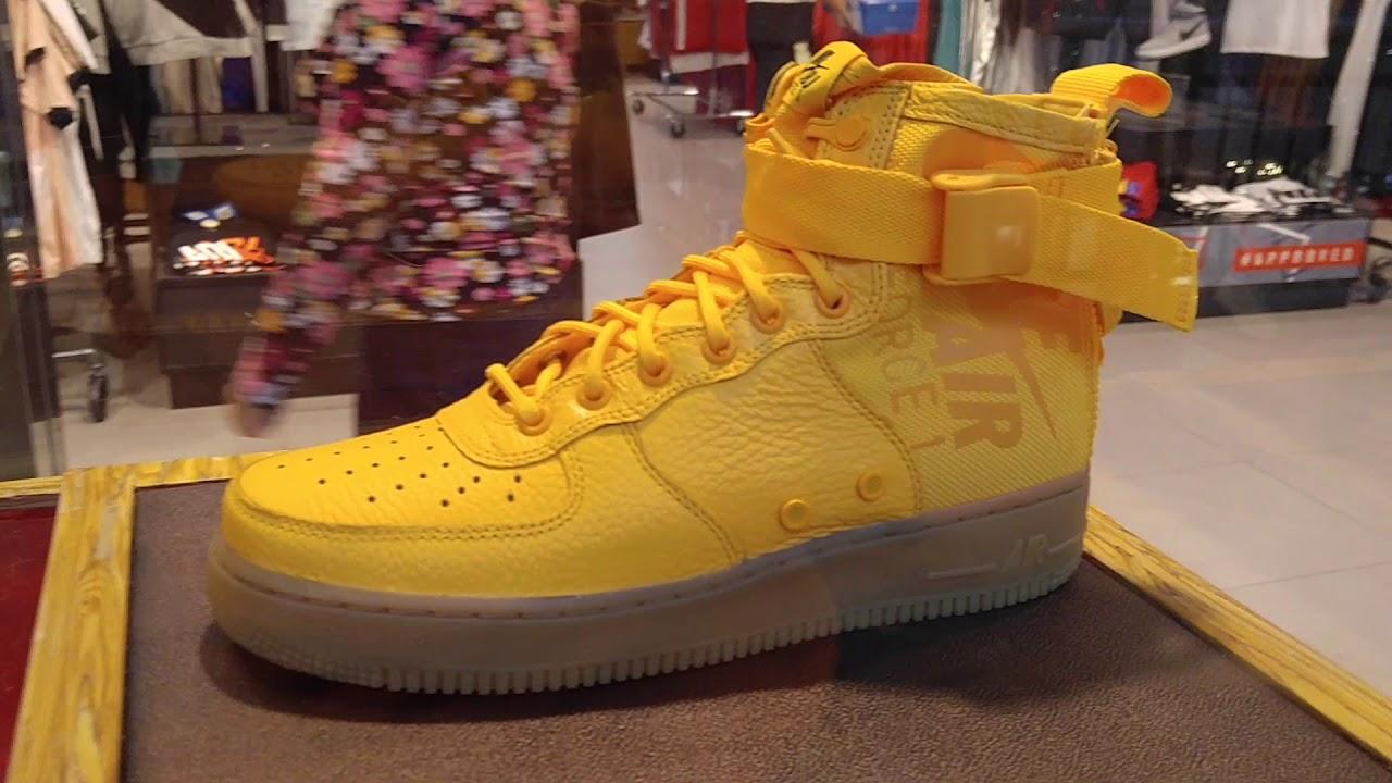 3382f3794fb821 NIKE Air Force 1 Yellow High Top   Nike Air Jordan Retro 12 Grey! 12 2 2017