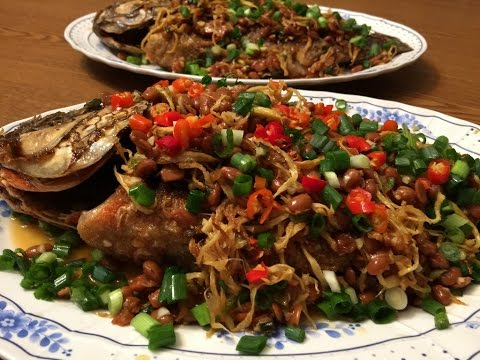 ចៀនជួន Fried Tilapia With Ginger And Soybeans-Cooking Cambodian/Khmer Food With Elissa