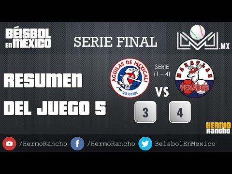 Resumen J5 SerieFinalLMP 2016 Aguilas de Mexicali Vs Venados de Mazatlan 25/01/2016 from YouTube · Duration:  3 minutes 53 seconds