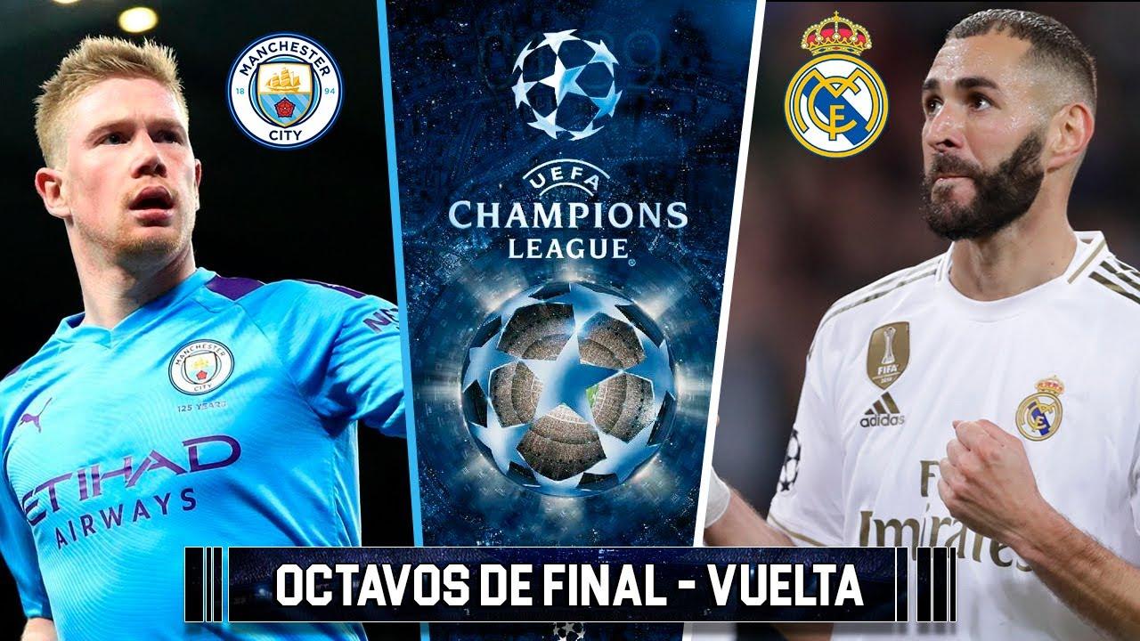 MANCHESTER CITY vs REAL MADRID - OCTAVOS DE FINAL CHAMPIONS LEAGUE SIMULACIÓN