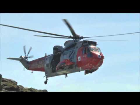 RNAS Culdrose based Westland Sea King GU5 Helicopter  ZA166, The Lizard, 10th August 2015