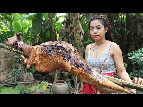 Yummy cooking BBQ goat recipe - Cooking skill