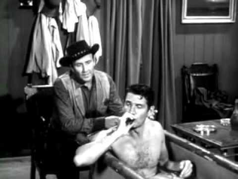 Gene Barry BAT MASTERSON takes a gayish Bath