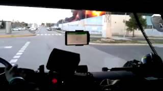 [5] VALENCIA | Llegada de bomberos al incendio en empresa química en Paterna. (8/FEB/2017)