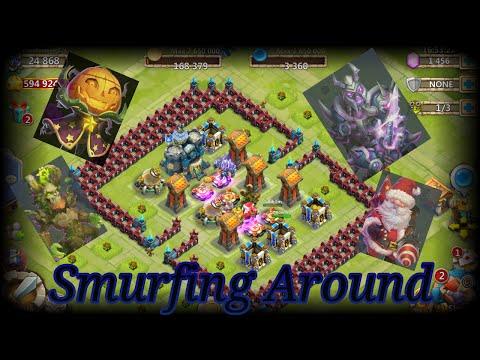 Castle Clash F2P Smurfing Around , Talent Roll 300 Free Gems