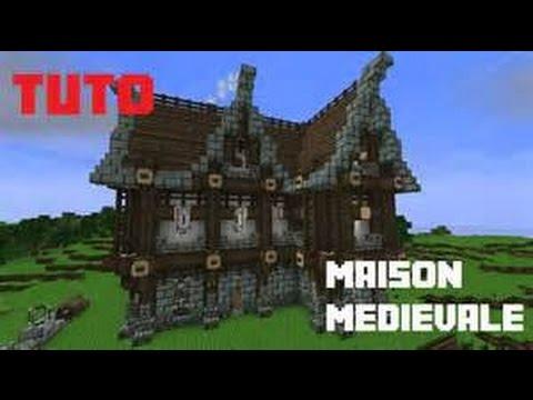 Tuto comment construire une maison medieval sur minecraft youtube for Construction de maison sur minecraft