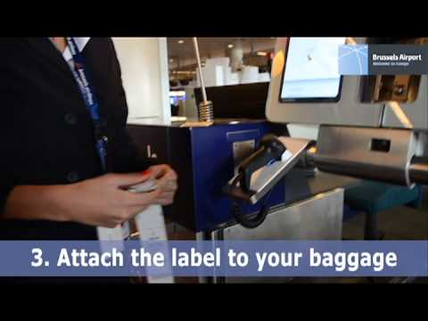 Self-service baggage drop-off at Brussels Airport
