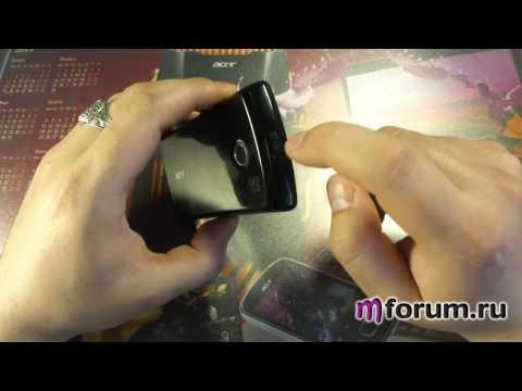 Обзор Acer E101 - внешний вид и аккумулятор