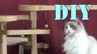 【DIY】ビー玉コースターとラグドール猫♡製作風景の③[Ragdoll Cat Ruu #488]Marble Run Coaster and Tomboy Cat - part ③ -