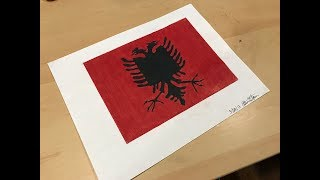 How to Draw the Albanian Flag | Flag Speed Draw