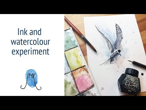 Ink and watercolour experiment.