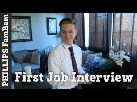 HIS FIRST JOB INTERVIEW | HE WAS SO NERVOUS