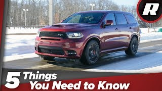 2018 Dodge Durango SRT: 5 things you need to know