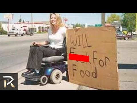 FUNNIEST Homeless People SIGNS That Get Them MONEY!