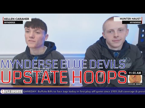 Mynderse Blue Devils in-studio .::. Upstate Hoops Podcast 1/7/18