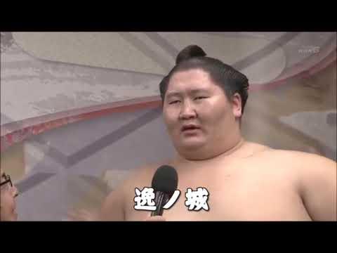 【大相撲】逸ノ城インタビュー  だいたい体重の話題が出る