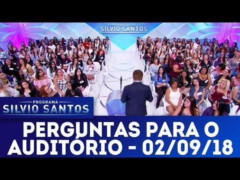 Perguntas para o auditório | Programa Silvio Santos (02/09/18)