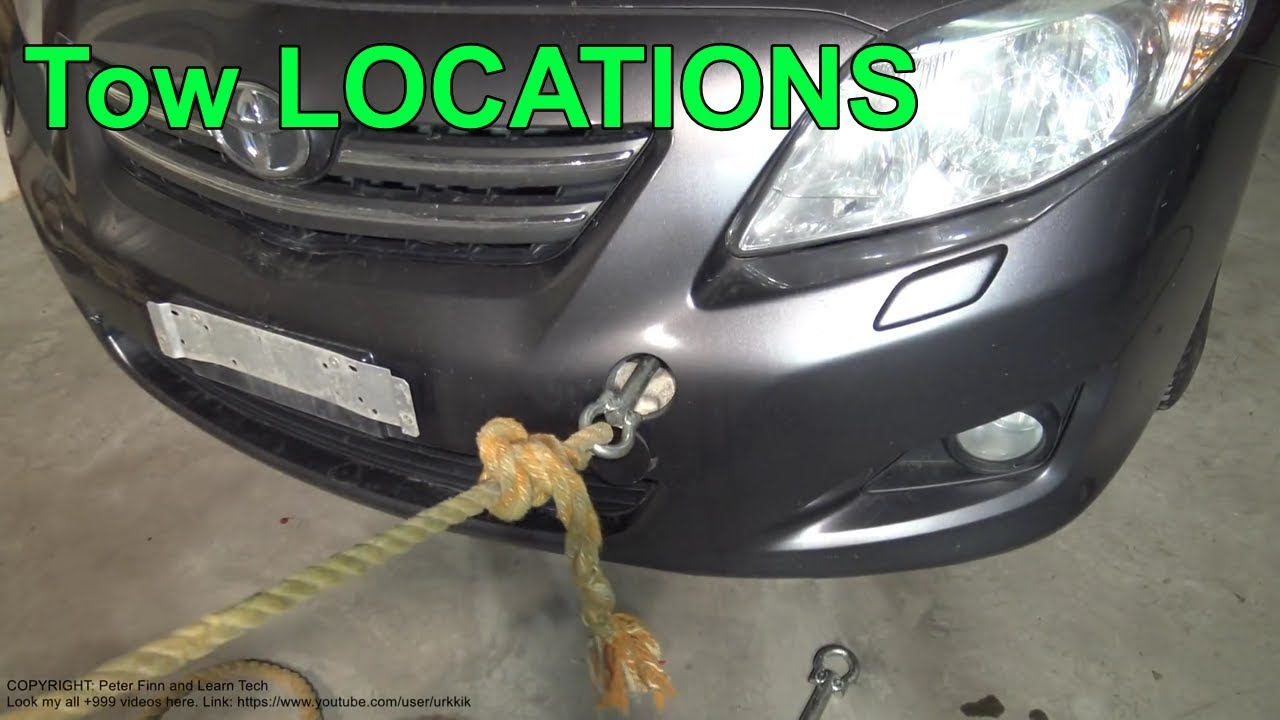 Where Are Tow Hook Locations Rear And Front Areas Toyota