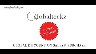 Odoo Global Discount on Sales Purchase Invoice with Tax Calculation