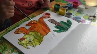 Как делать коричневый и оранжевый цвет красками. Смешивание цветов