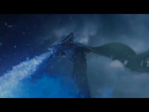 Knight king destroys the wall with viserion- HD Clip