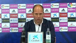 Rueda de prensa de José Alberto López tras el Real Zaragoza vs Real Sporting (4-2)