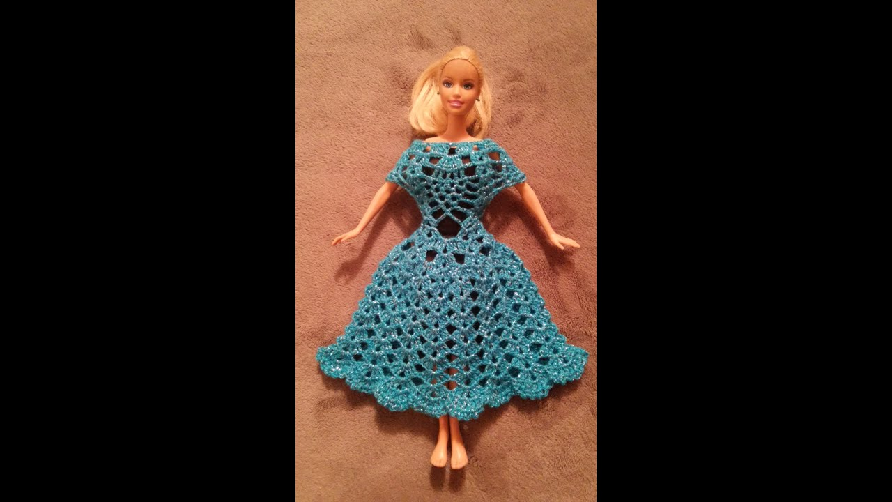 vestido para mu eca barbie   youtube