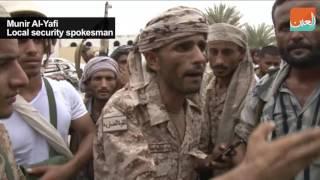 بالفيديو .. القوات اليمنية تستعيد معسكر الجيش بمطار عدن
