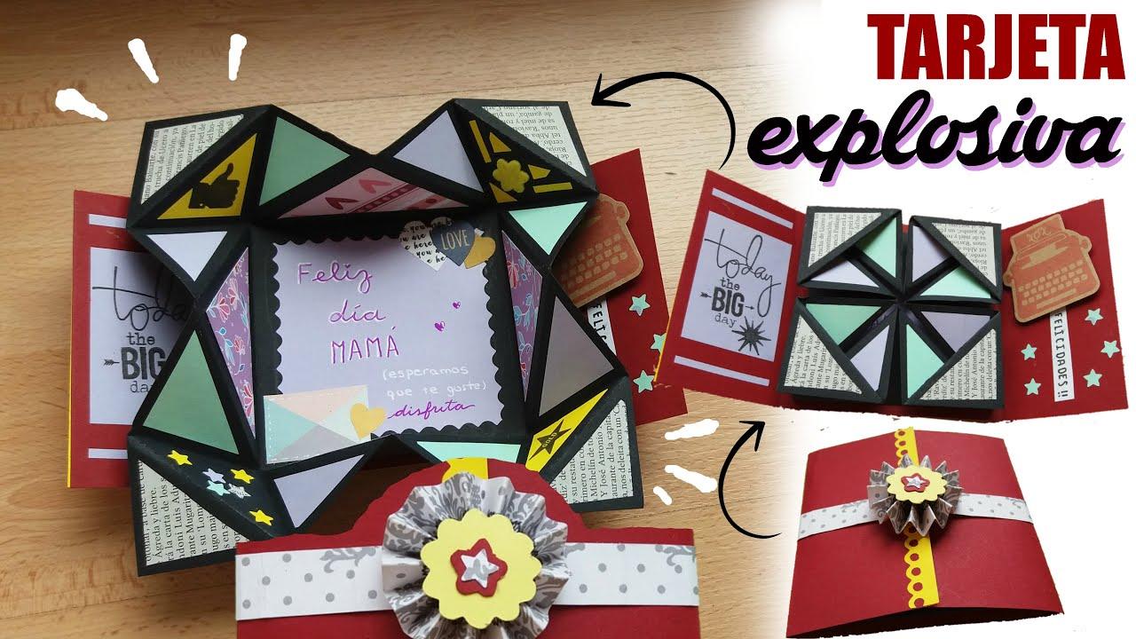 C mo hacer tarjeta explosiva youtube - Como hacer tarjetas navidenas originales ...