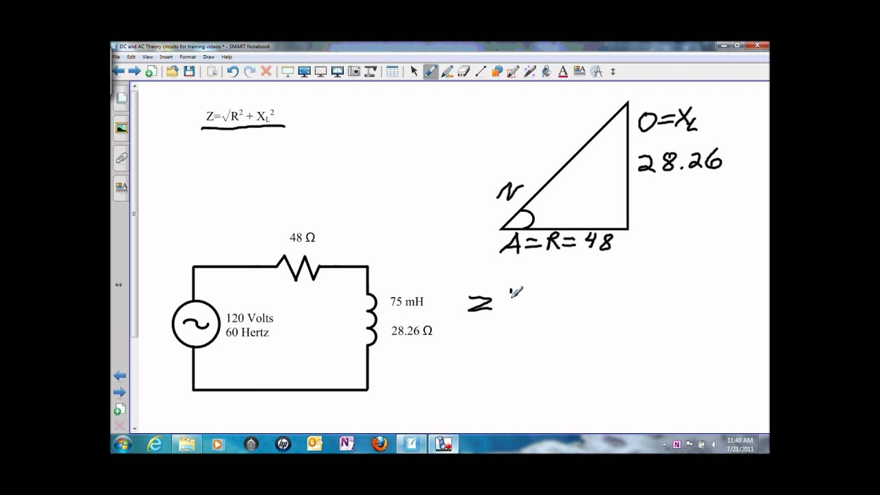 impedance in a series rl circuit wmv youtube rh youtube com