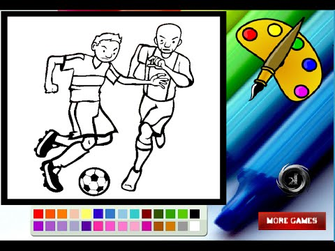 Soccer Player Coloring Pages For Kids - Soccer Player Coloring Pages