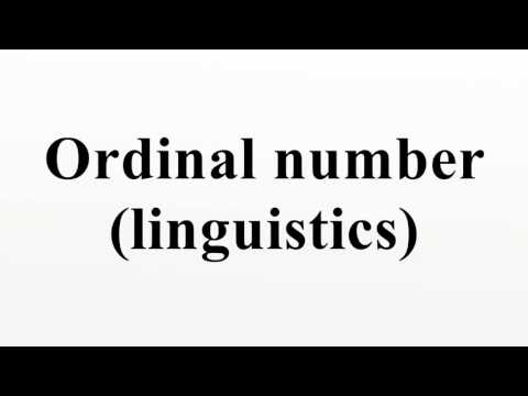 Ordinal number (linguistics)