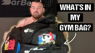 WHATS IN A PROFESSIONAL STRONGMAN GYM BAG? - Rob Kearney