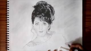 Sridevi Kapoor Sketch   VIVEK CHATTRBAN