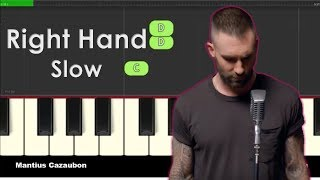 Maroon 5 - Girls Like You - Right Hand Slow Easy Piano Tutorial