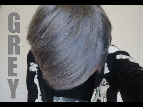 dye hair silver grey