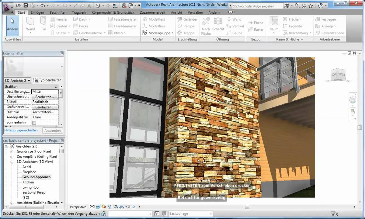 Realistische Ansicht In Autodesk Revit Architecture 2011