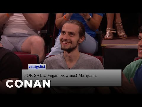 Audience Craigslist: Vegan Brownies Edition  - CONAN on TBS